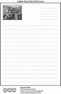 Character Letter Template A Letter Home Template For Children To Write A Letter