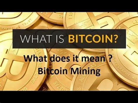Miners do not create any new bitcoins, even if it seems like they do. What does it mean ? Bitcoin Mining - YouTube