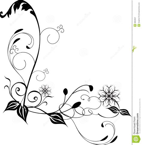 Corner Swirl Clip Art