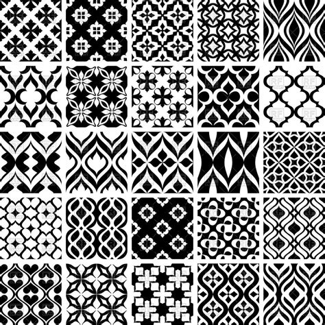 Abstract Black And White Patterns by Black And White Seamless Simple Classic Patterns Vector