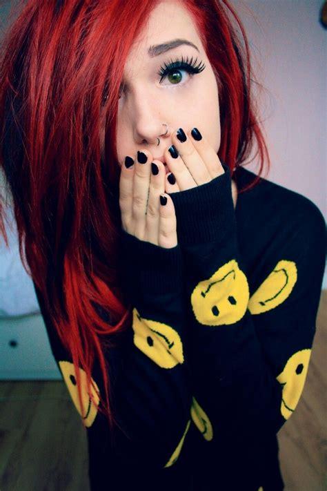 Red Grunge Redhead Scene Girl Scene Hair Emo Girl Emo Hair