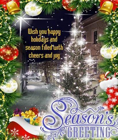Season Filled Greetings Blessings Seasonal Cheers Joy