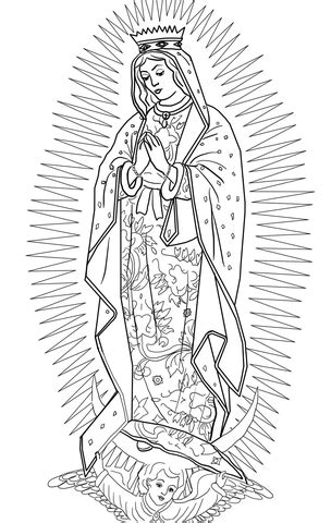 Our Lady of Guadalupe coloring page | Free Printable