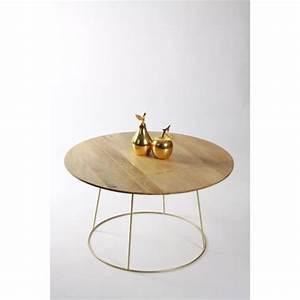 Table Basse Art Deco : table basse ronde style art d co la parisienne grand mod le meuble house marron achat ~ Teatrodelosmanantiales.com Idées de Décoration
