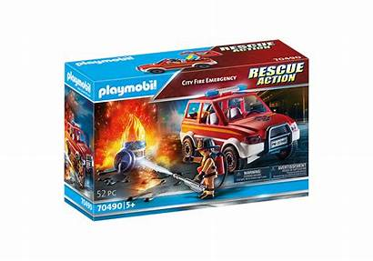 Emergency Fire Playmobil Incendie Urgent Ville Referencia