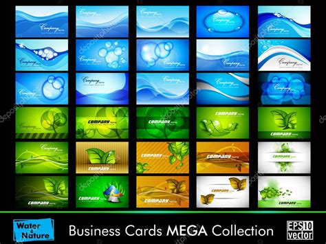 Nature And Water Business Card Set Business Cards For Mexican Restaurants Rolodex Card Refill Pages Photo Collage Vertical With Qr Code Reader Insightly Printing Singapore Tanjong Pagar Templates Free Device