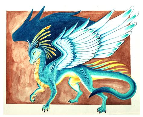 Blue Feathered Dragon By Starwoodarts On Deviantart