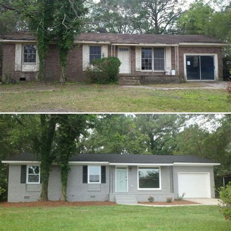 brick ranch exterior makeover painted brick hgtv sherwin