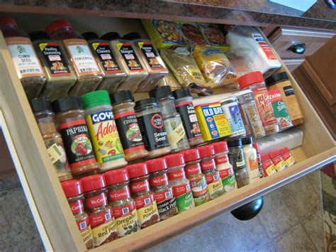 Large Spice Organizer by It Frugal In Drawer Spice Organizer Free