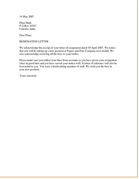 Resignation Letter Template Nz – business form letter template