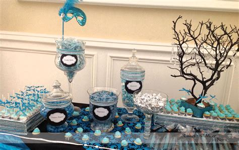 sweet sixteen dessert table teal and purple masquerade cake table google search