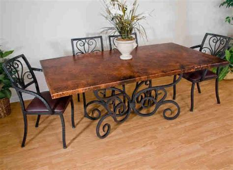 Wrought Iron Kitchen Tables Displaying Attractive