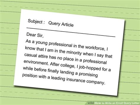 write  email query letter  steps  pictures