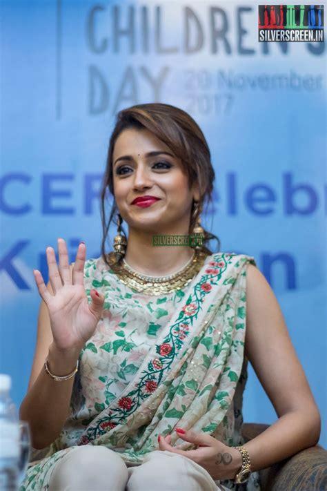 trisha krishnan  unicef event  chennai silverscreenin