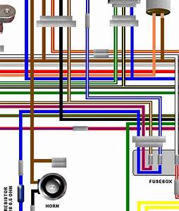 Kawasaki Kz750 B4 Usa Spec Large Laminated Colour Wiring Diagram