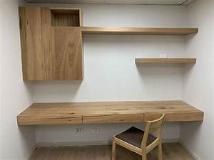 Wall, Mounted, Desk, Cabinet, Floating, Shelf, -, Home, Office
