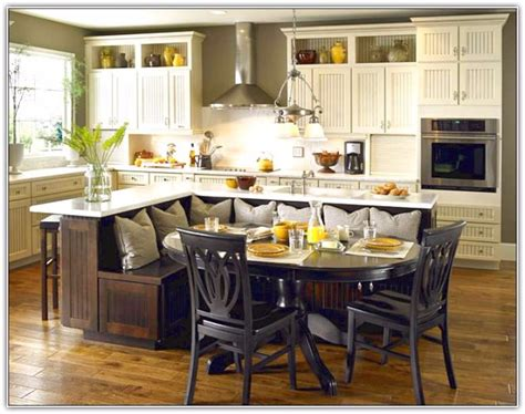 kitchen island with seating ideas 14 kitchen island with built in seating 183 woodworkerz 8265