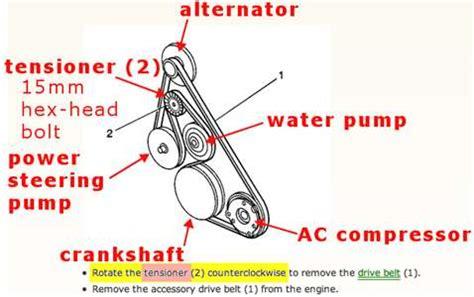 Diagram Of 2003 Buick Lesabre Alternator by Serpentine Belt Diagram For 2003 Buick Le Sabre Fixya
