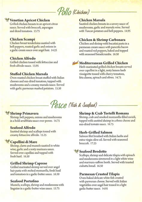 Olive Gardens Menu - olive garden state college pa 16803