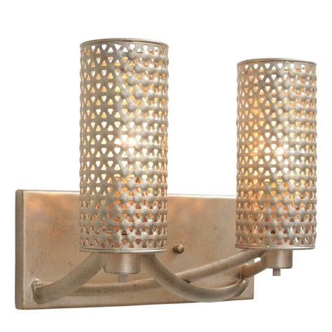 Gold Bathroom Vanity Lights by Varaluz Casablanca 2 Light Zen Gold Vanity Light 244b02zg