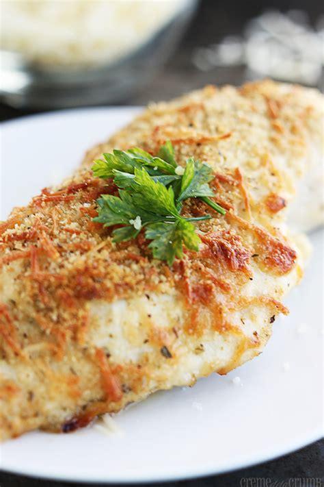 parmesan chicken baked garlic parmesan chicken recipe dishmaps