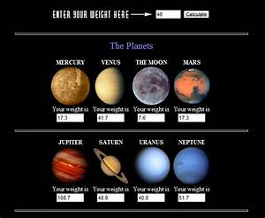 Gravity of All Planets (page 2) - Pics about space