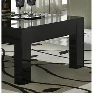 Table Basse Noire Design : table basse rectangulaire design laqu e noire solene matelpro ~ Carolinahurricanesstore.com Idées de Décoration
