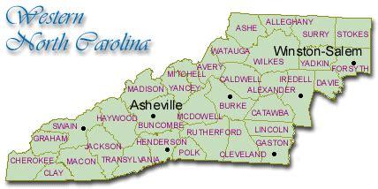Maps: Western North Carolina
