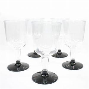Verre A Vin Noir : verres vin noirs en plastique jetable drag es anahita ~ Teatrodelosmanantiales.com Idées de Décoration
