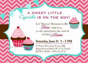 Cupcake Baby Shower Invitations Template - Resume Builder