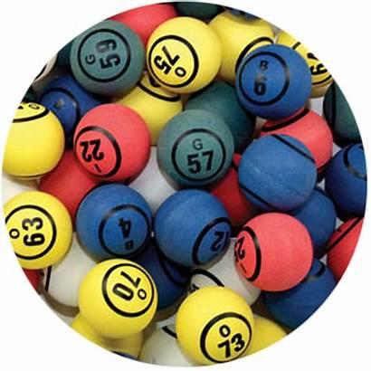 Bingo Balls Pong Ping Multi Solid Cage
