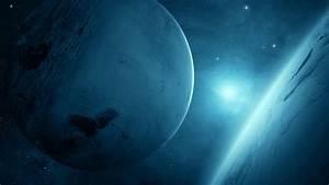 Full HD Wallpaper planet cold glow supernova satellite ...
