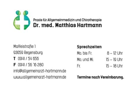 dr med matthias hartmann   regensburg facharzt