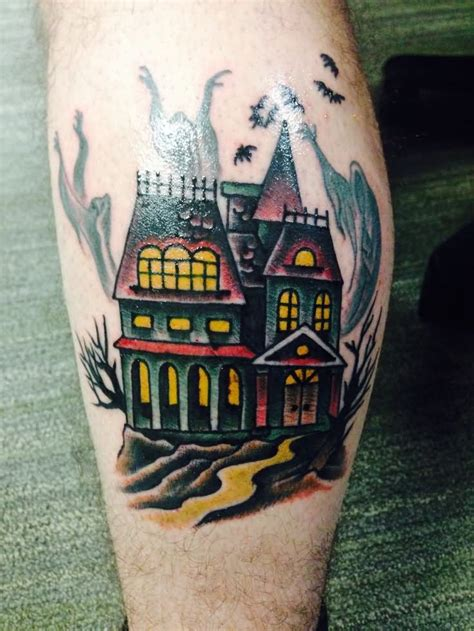 haunted house tattoos