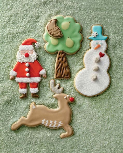 pictures of decorated christmas cookies using royal icing sugar cookies recipe martha stewart