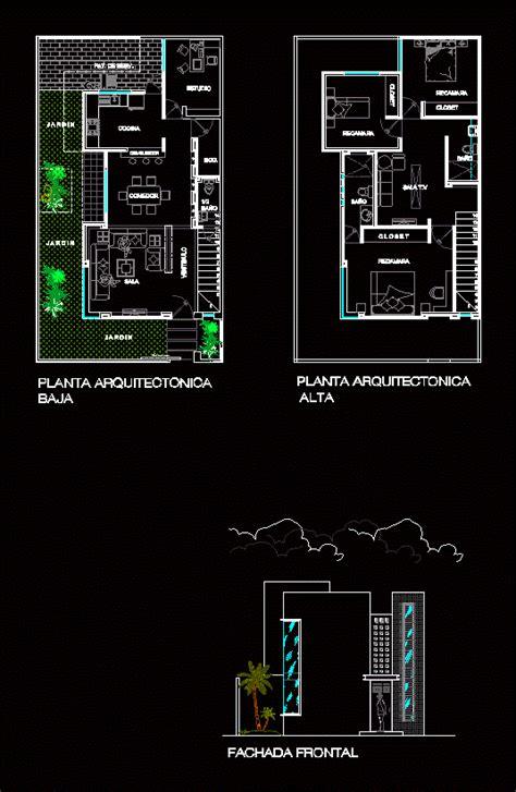 House Duplex  Autocad  Cad   Kb