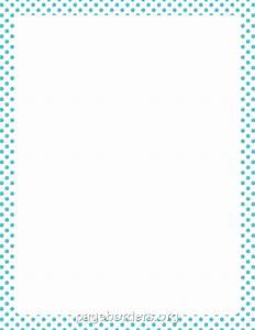 Blue Polka Dot Border Clip Art (14+)