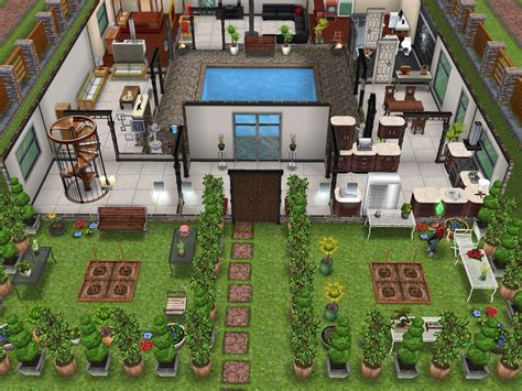 delightful house layouts ideas original house with interior courtyard sims freeplay