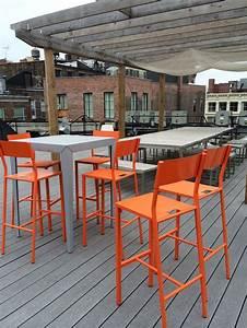 Chaise Mange Debout : terrasse new york chaise up mange debout zonda mati re grise mobilier metal outdoor ~ Teatrodelosmanantiales.com Idées de Décoration