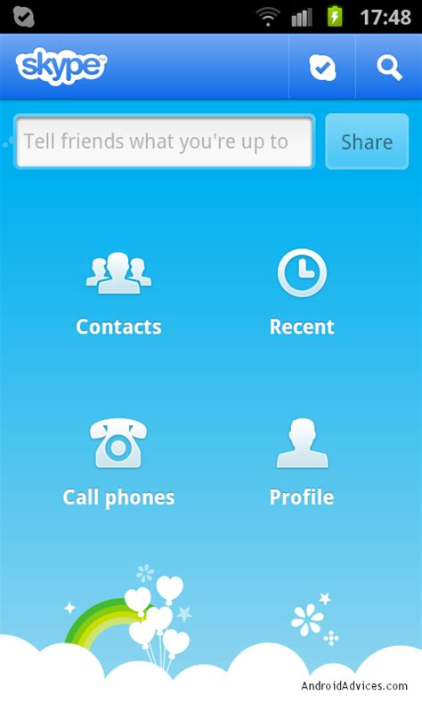 skype voice call  video call  android