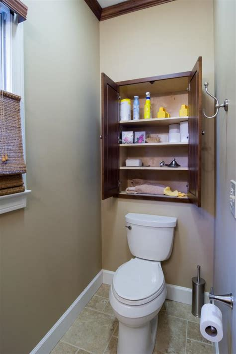 And Storage Ideas For Small Bathrooms by Small Space Bathroom Storage Ideas Diy Network