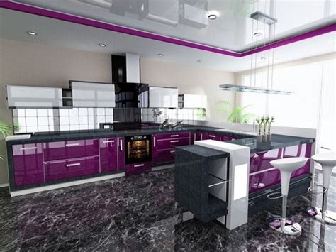 "Purple and Grey Kitchen Decor Defines ""Royalty""   Home"