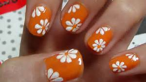 Easy nails art design using a toothpick simple flower nail for