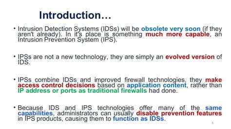 intrusion detection systems  intrusion prevention systems
