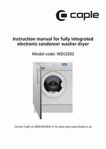 Caple Wdi2202 Instruction Manual