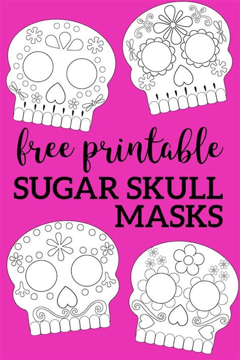day   dead masks sugar skulls  printable