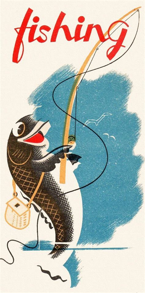 fishing poster clip fish clipart gone fly posters bass derby line signs trout illustration lady homemade tips lures rod quotes