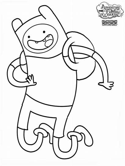 Adventure Coloring Pages Cartoon Finn Printable Human