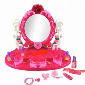 Coiffeuse Bois Enfant : coiffeuse enfant fille avec miroir et accessoires de beaut ~ Teatrodelosmanantiales.com Idées de Décoration