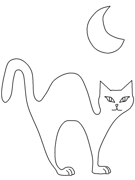 Halloween Black Cat Coloring Page